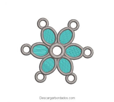 Diseño bordado figuras circulares