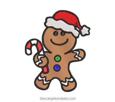 Diseño bordado galleta de navidad