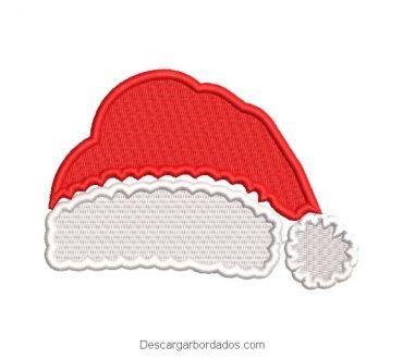 Diseño bordado gorra de papa noel