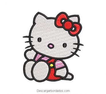 Diseño bordado hello kitty sentado