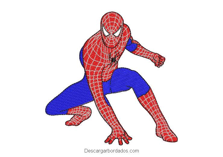 Diseño bordado hombre araña spiderman para máquina