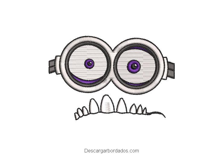 Diseño bordado lentes de minions