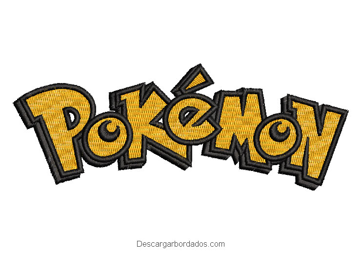 Diseño bordado letra de pokemon