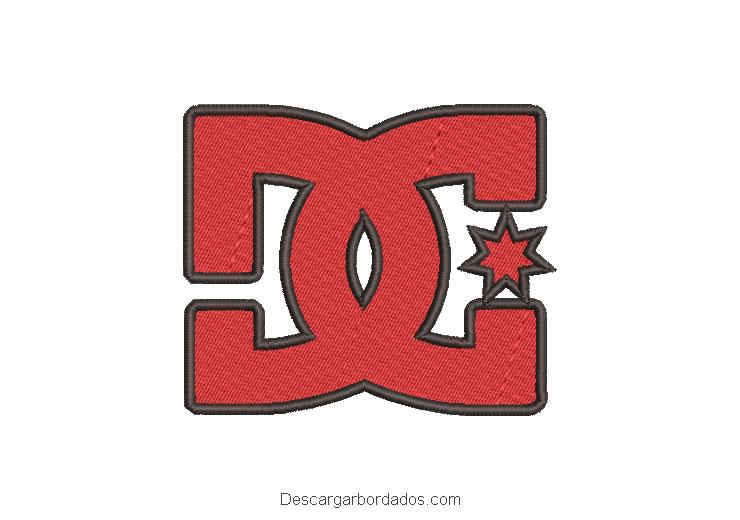 Diseño bordado logo DC para máquina