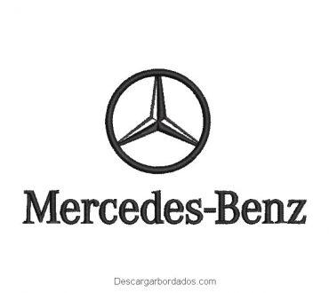 Diseño bordado logo Mercedes-Benz