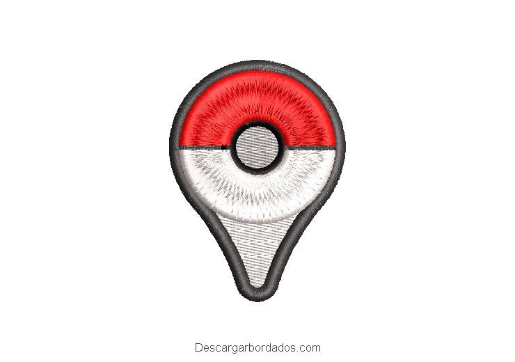 Diseño bordado logo de Pokemon Go