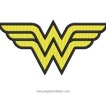 Diseño bordado logo de mujer maravilla Wonder Woman