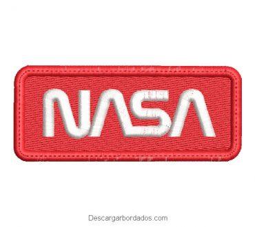 Diseño bordado logo de nasa