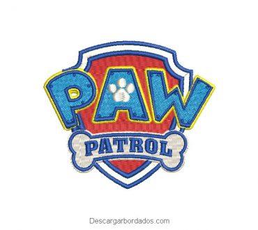 Diseño bordado logo de paw patrol