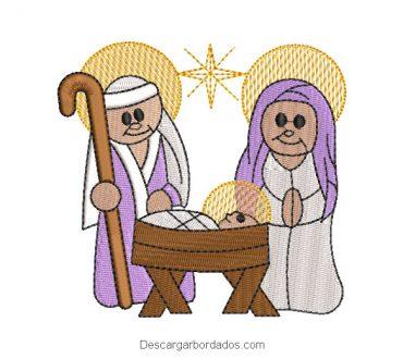 Diseño bordado maria jose y el niño jesús