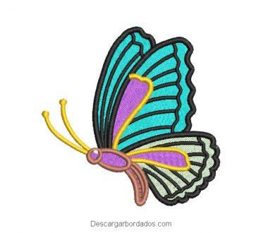 Diseño bordado mariposa de colores