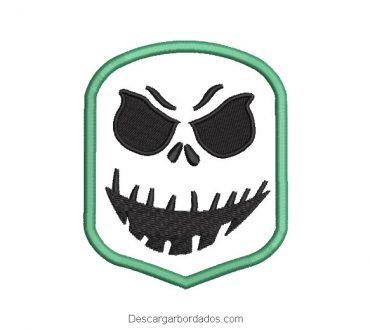 Diseño bordado mascara de fantasma