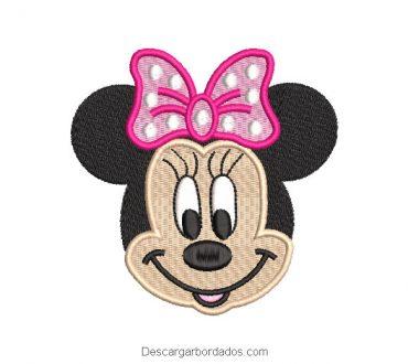 Diseño bordado minnie mouse sonriendo