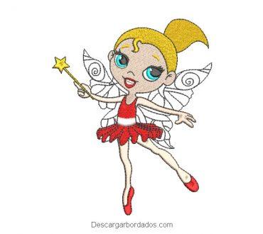 Diseño bordado princesa bailarina de ballet