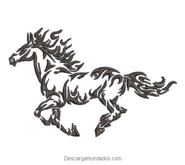 Diseño bordado retrato de caballo para bordar