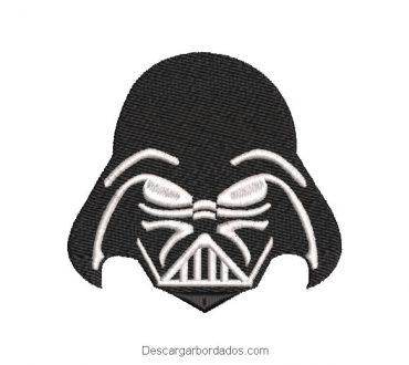 Diseño bordado rostro de Star Wars