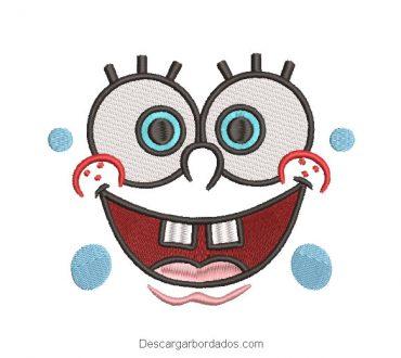 Diseño bordado rostro de bob esponja