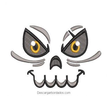 Diseño bordado rostro de fantasma