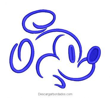 Diseño bordado rostro de mickey mouse