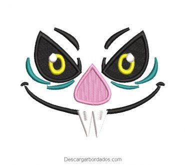 Diseño bordado rostro de murcielago