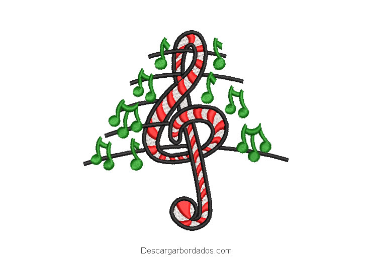 Diseño bordado signo de nota musical