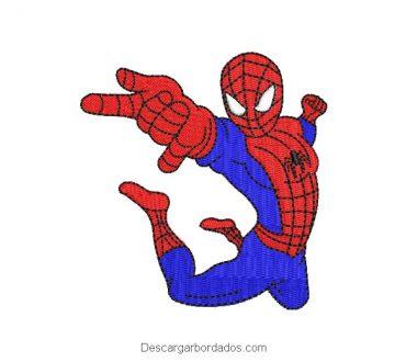Diseño bordado super heroes hombre araña spiderman