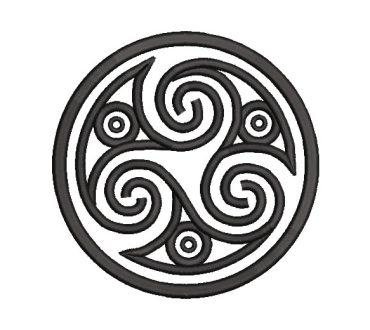 Diseño bordado triskel celta
