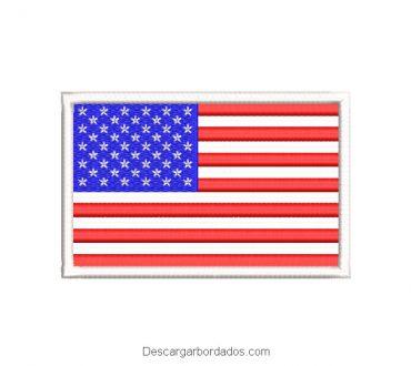 Diseño de bordado bandera de estados unidos de américa USA