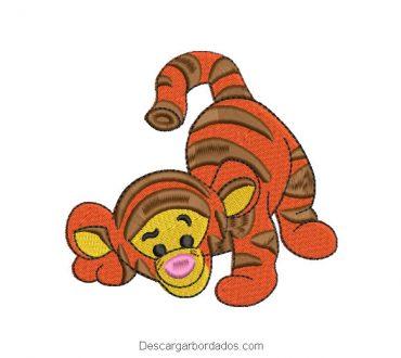 Diseño de tigre bebe para máquina de bordar