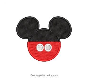 Diseño rostro de mickey mouse rojo y negro