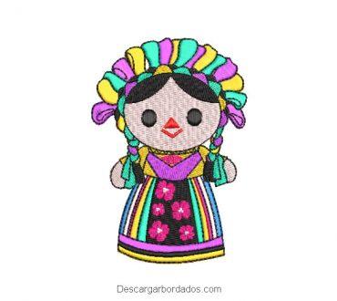Diseños Bordados Muñecas Mexicanas Infantiles