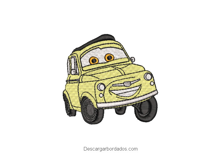 Diseños Bordados de Autos Cars Luigi