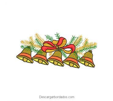 Diseños bordados campanas de navidad