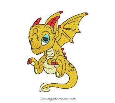 Diseños bordados de dragón