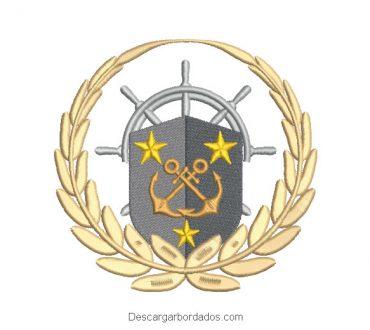 Escudo de Pirata Diseño de Bordado
