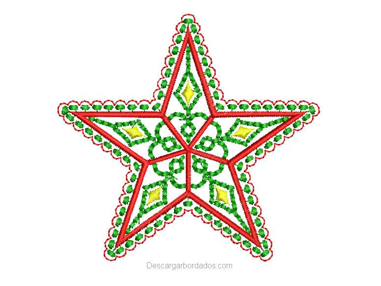 Estrella de navidad para bordar