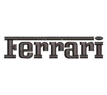 Ferrari logo letras Diseños de Bordado