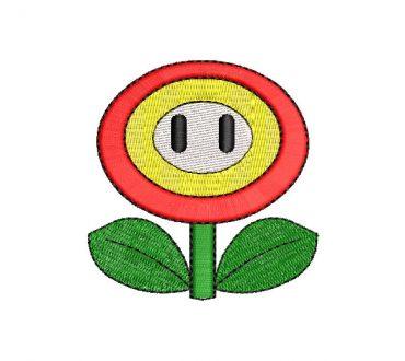 Flor de Fuego Super Mario Bros Diseños de Bordado