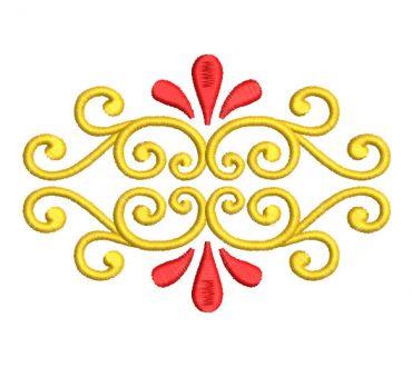 Flores Ornamentales Diseño Bordados