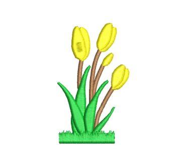 Flores Tulipanes Diseños de Bordado