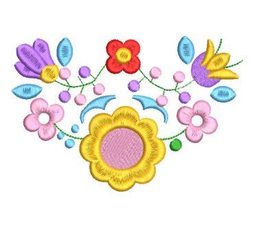Flores de Colores con Decoración Diseños de Bordado