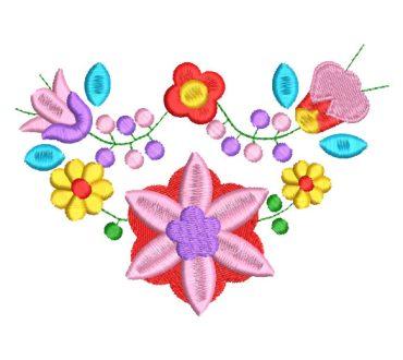 Flores de Colores de Primavera Diseños de Bordado