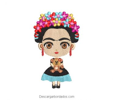 Frida Kahlo Diseño para Máquina de Bordar
