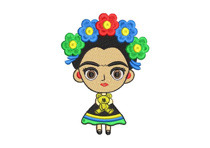 Frida Kahlo Muñeca Infantil Diseños de Bordado