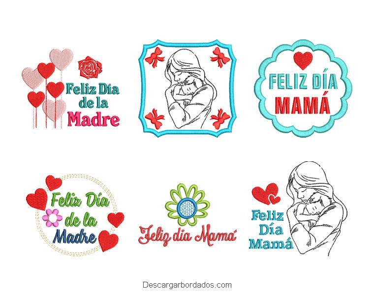 Letras y Diseños Bordados para el Día de la Madre