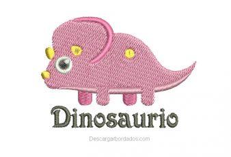 Diseño Bordado de Dinosaurio con Letra gratis