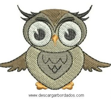 Lindo Diseños bordado de Búho