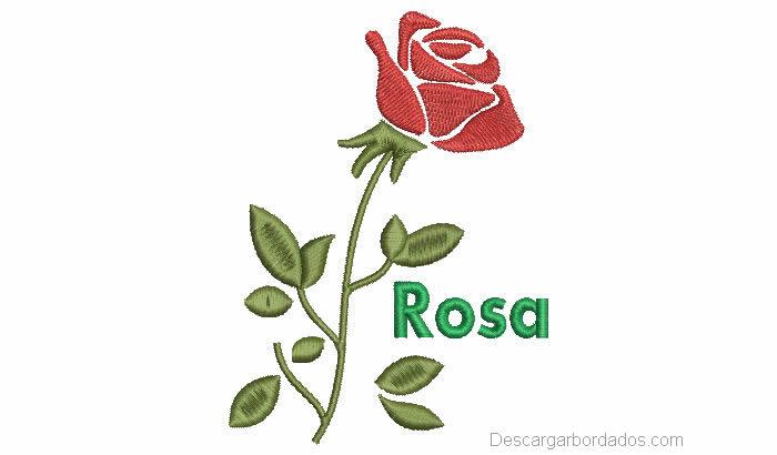 Lindo diseño bordado de rosas
