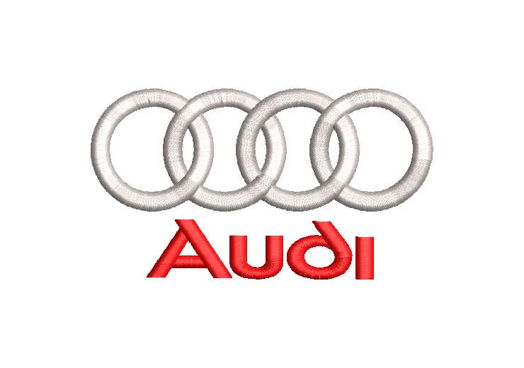 Logo Audi Diseño de Bordado