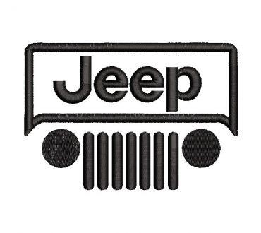 Logo Jeep Diseño de Bordado